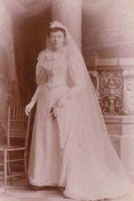 wedding dress from1890's