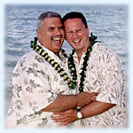 Tropical gay wedding