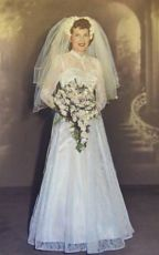 1950 bride dress