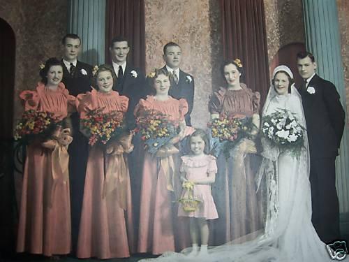 wedding party 1933